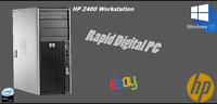HP Z400 Workstation Intel Xeon W3520 4Gigs 2TB HDD Windows 10 Pro 64x