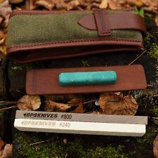 BPS Knives Sharpening Kit 2 stones 240 & 800 & leather strop compound nylon case
