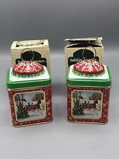 NIB Lot of 2 VTG Jasco Holiday Essence Christmas Tin Candle~Bayberry Scent