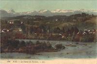 64 - cpa - PAU - La chaîne des Pyrénées