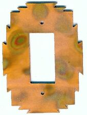 """COPPERCUTTS Heat Treated Copper 4.25"""" x 6"""" Switch Plate SouthWest Rustic Style"""