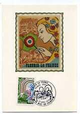 FRANCE 1978 CM 1° jour Fleurs, papillons, timbre 2006
