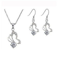 High Quality Butterflies Zircons Jewellery Jewelry Sets Necklace & Earrings S130