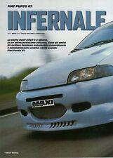 Q20 Clipping-Ritaglio 2002 Fiat Punto GT - Infernale