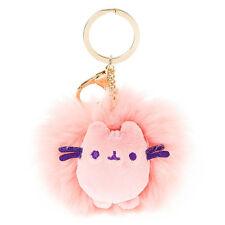 Pusheen Pom Pom Keychain Pink Plush Key Ring Clip Key Chain Licensed Gund NWT