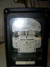 GE TYPE DS-63 TWO STATOR WATTHOUR METER 120 VOLT 3 WATT 3 PHASE 700X63G1