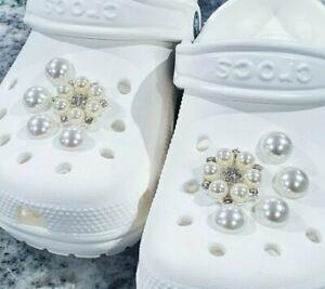 10pcs Shoe Charms for Crocs-like Shoes-pearls rhinestones Jibbitz clog-easter