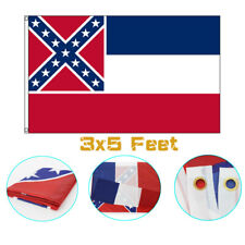 Mississippi Ms State Flags 3X5 ft Durable Fade Resistant Polyester Banner New!