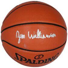 Autographed New Orleans Pelicans Zion Williamson Fanatics Spalding Basketball