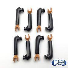 playmobil® 4 Paar Arme schwarz | hellbraun | Ägypter | Araber | Römer | Piraten