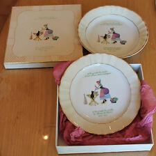 joli coffret de 2 assiettes bernardaud porcelaine de limoges chanson pour enfant