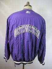 E5380 VTG 90s STARTER Northwestern Wildcats NCAA Windbreaker Jacket Size L