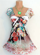 MANDALA ROSES Floral Print Sublimation Dress Shirt Top Tunic Sz L Lg 10/12 Boho