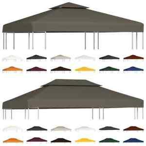 vidaXL Pavillondach 2-Stufig 310g/m² Ersatzdach Pavillon Plane mehrere Auswahl