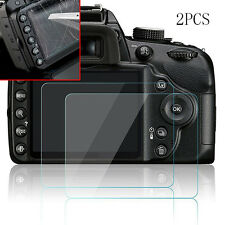 2pcs Clear Hard Tempered Glass Screen Protector Film for Nikon D3200 D3300 D3400