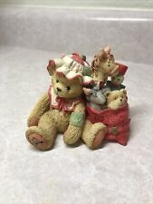 "Cherished Teddies 1993 Carolyn Figurine, ""Wishing You All Good Things�"
