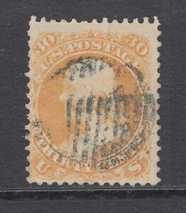 US Sc 71 used 1861 30c Franklin, grid cancel F-VF