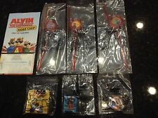 Alvin and the chipmunks ROAD CHIP Carls Jr happy meal toys complete set of 6