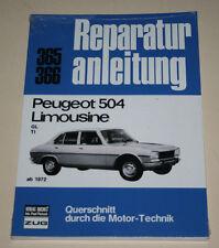 Reparaturanleitung Peugeot 504 GL Vergaser + TI Einspritzer, ab Baujahr 1972