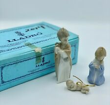 "Lladro - Mini Sagrada Familia ""Holy Family"" #5.657 Nativity Ornaments With Box"