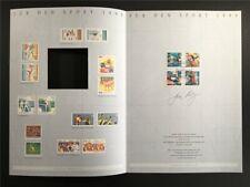 GERMAN ART-EDITION 1995/04 1777/1780 SPORT GYMNASTICS BOXEN BOXING DRAFTS!!