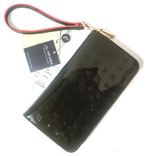 ARCADIA Made In Italy Patent Leather Wallet Wristlet # 1607 in Black NWT