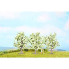 Noch 25511 - N/Z - árboles de frutas, blanco flores, 3 piezas, 4,5 cm de alto -