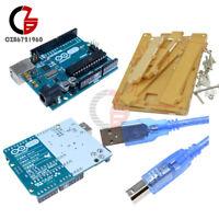 Uno R3 USB ATmega328 Genuine Board+Acrylic Case Shell+USB Cable for Arduino