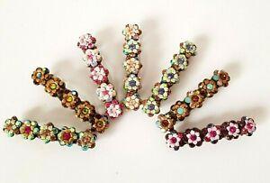 Michal Negrin Hair Clip Pin NEW Swarovsky Crystals handmade