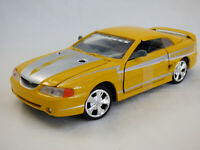 Motor Max Street Racer 1:24 1998 Ford Mustang SVT Cobra Yellow  American Toy Car