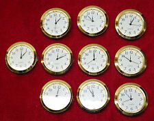 Seiko Mini Insert Clock Movement LOT OF 10 NEW Quartz Battery Fit Up 1 7/16""