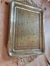 More details for vintage brass serving tray