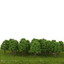 20pcs Model Trees Plastic Decoration for Train Railway Landscape 7.5cm -Green