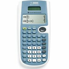 Texas Instruments TI30XS Solar Algebra Trigonometry Scientific Calculator New