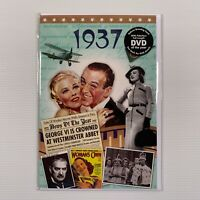 1937 DVD Birthday Greeting Card Full length DVD history of the year - new sealed