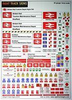 00 gauge British Rail Depot Signs Set, Diesel Depot, Hornby Bachmann, OO gauge