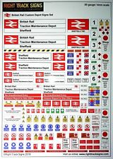 00 gauge British Rail Depot Signs Set, Diesel Depot, Hornby Bachmann