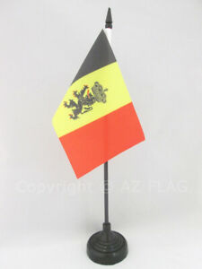 BELGIUM COAT OF ARMS TABLE FLAG 4'' x 6'' - BELGIAN WITH LION DESK FLAG 15 x 10