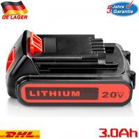 3,0Ah 18V 20V Li-Ion LBXR20 Ersatzakku für Black & Decker BL2018 LB20 BL2018-XJ