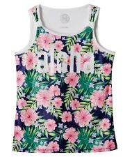 NWT SO Tropical Aloha Multicolor Mesh Front Scoopneck Tank, Girls Size 12 1/2