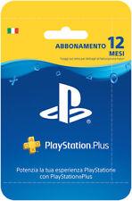 Sony PSN Playstation Plus Network Hanging Card Abbonamento 12 Mesi IT IMPORT