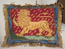 STANDING LION CUSHION TAPESTRY NEEDLEPOINT COLOUR CHART CANDACE BAHOUTH