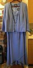 ELEGANT FLOOR LENGTH GOWN WITH TRAIN AND MATCHING JACKET!  NEVER WORN!