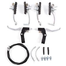 Conjunto Un par de V Frenos + Palanca + 2x Cables para Motaña Bici Bicicleta MTB