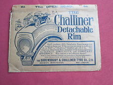 Advert for 'The Challiner Detachable Rim Tyre on Card Wallet for Open road map