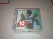 More details for tdk cd-rxg audio 80 recordable pack of 10 sealed see description