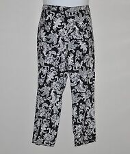 Linea by Louis Dell'Olio Printed Woven Crop Pants Size 8 Black/White