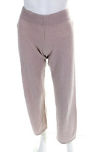 Neiman Marcus Womens Cashmere Straight Leg Pants Purple Mauve Size Small
