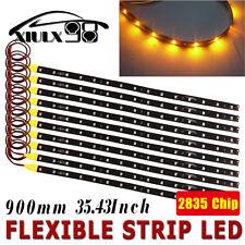 10x Motor LED Flexible Strip Light 90cm Amber High Power 2835 SMD Waterproof 12V