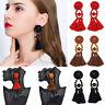 2017 Vintage Earrings For Women Black/Red/Brown Crystal Tassle Earrings Antique